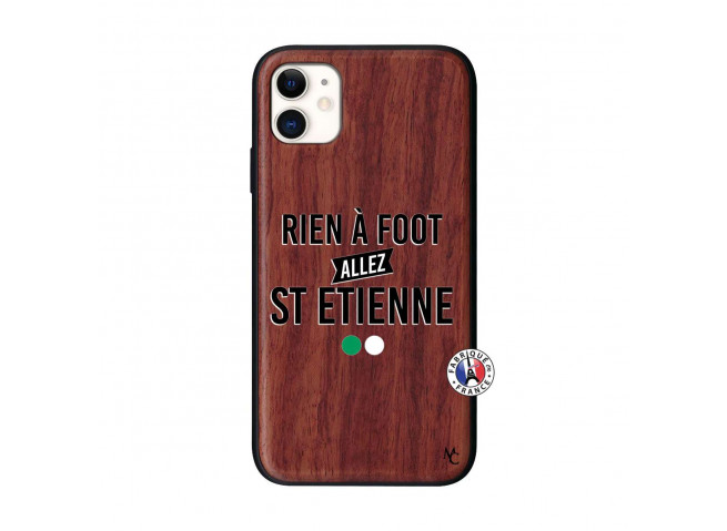 Coque iPhone 11 Rien A Foot Allez St Etienne Bois Walnut