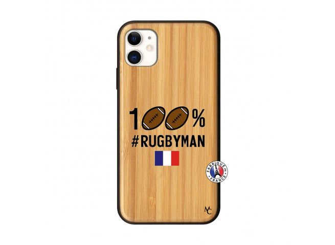 Coque iPhone 11 100% Rugbyman Bois Bamboo