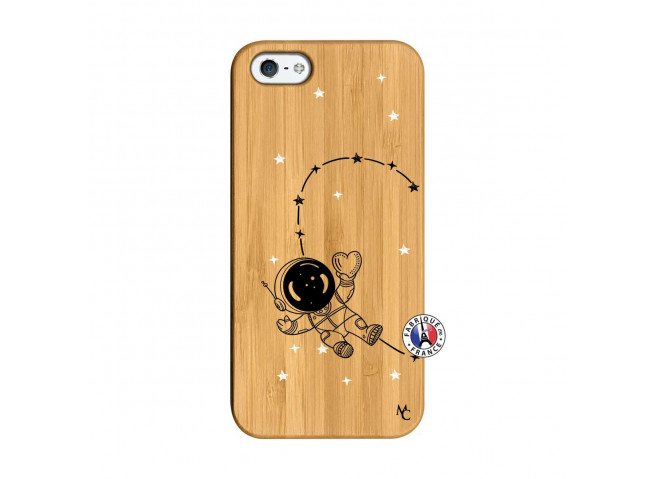 Coque iPhone 5/5S/SE Astro Girl Bois Bamboo