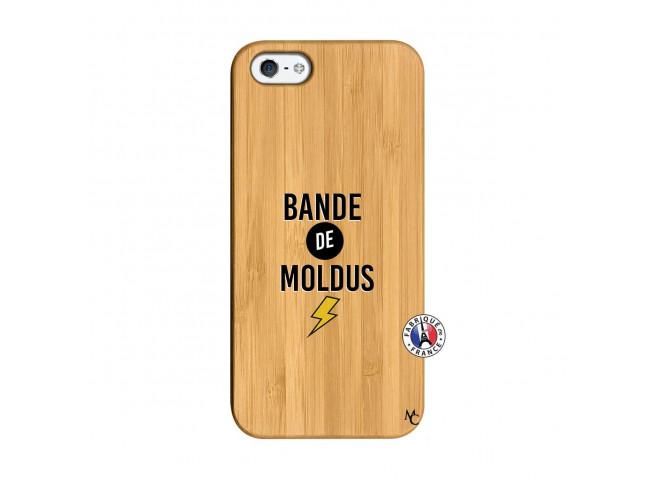 Coque iPhone 5/5S/SE Bandes De Moldus Bois Bamboo