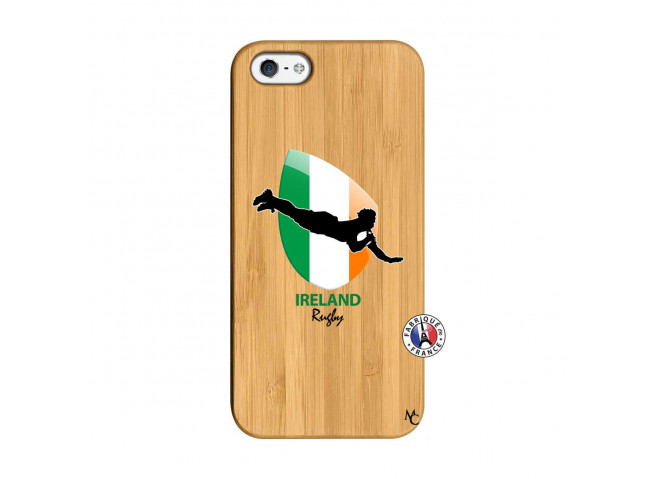 Coque iPhone 5/5S/SE Coupe du Monde Rugby-Ireland Bois Bamboo