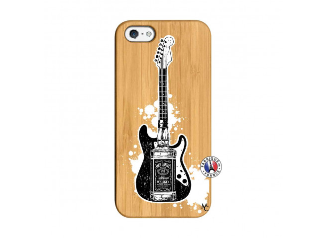 Coque iPhone 5/5S/SE Jack Let's Play Together Bois Bamboo