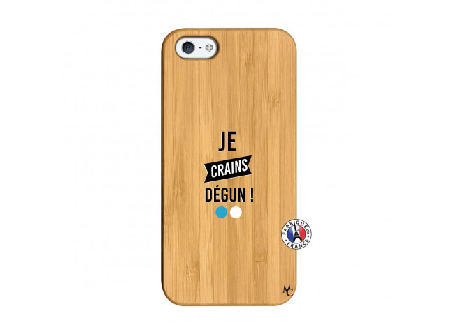 Coque iPhone 5/5S/SE Je Crains Degun Bois Bamboo