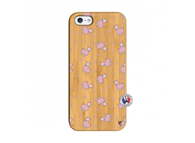 Coque iPhone 5/5S/SE Petits Moutons Bois Bamboo
