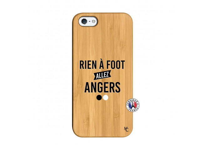 Coque iPhone 5/5S/SE Rien A Foot Allez Angers Bois Bamboo