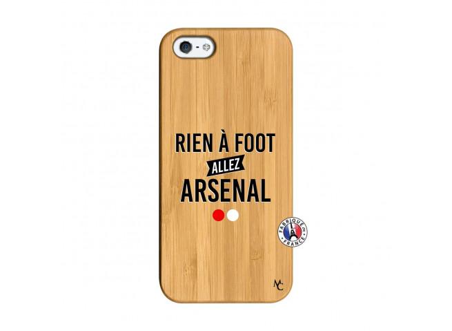 Coque iPhone 5/5S/SE Rien A Foot Allez Arsenal Bois Bamboo