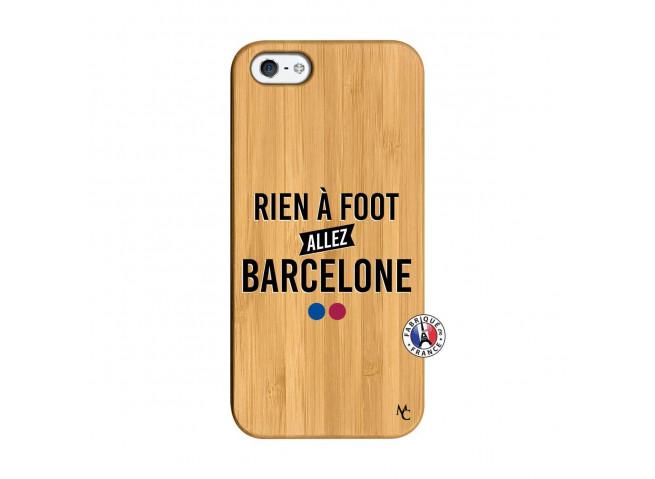 Coque iPhone 5/5S/SE Rien A Foot Allez Barcelone Bois Bamboo