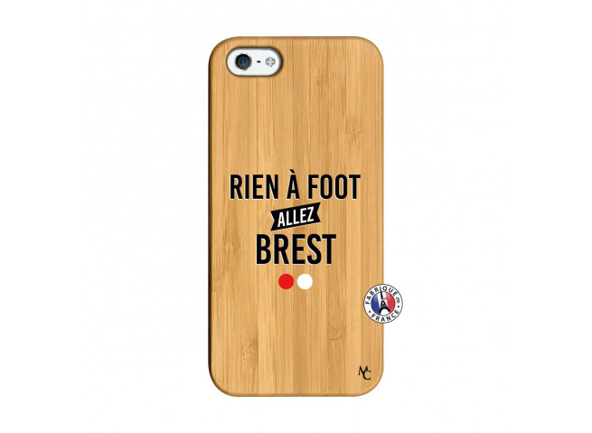 Coque iPhone 5/5S/SE Rien A Foot Allez Brest Bois Bamboo