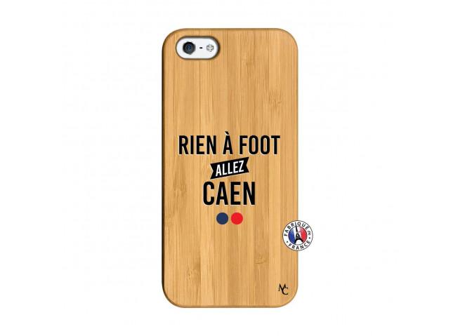 Coque iPhone 5/5S/SE Rien A Foot Allez Caen Bois Bamboo