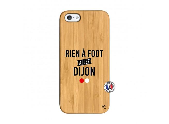 Coque iPhone 5/5S/SE Rien A Foot Allez Dijon Bois Bamboo