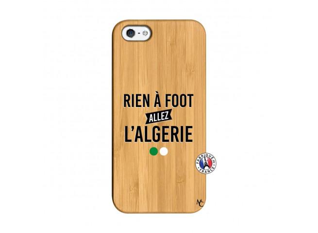Coque iPhone 5/5S/SE Rien A Foot Allez L Algerie Bois Bamboo