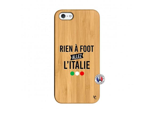 Coque iPhone 5/5S/SE Rien A Foot Allez L'Italie Bois Bamboo