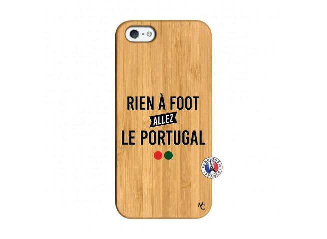Coque iPhone 5/5S/SE Rien A Foot Allez Le Portugal Bois Bamboo