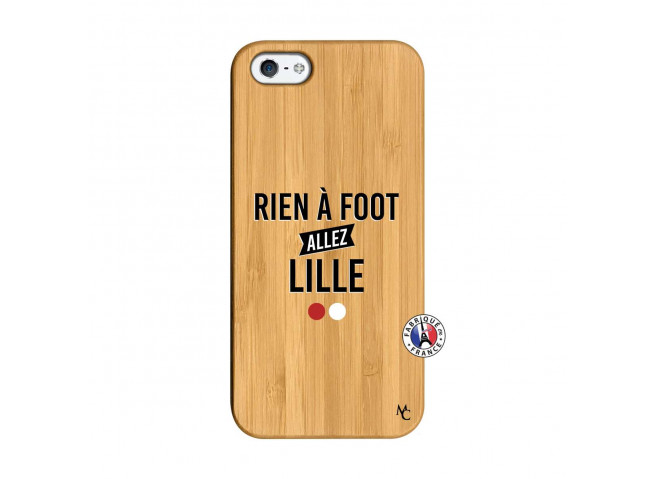 Coque iPhone 5/5S/SE Rien A Foot Allez Lille Bois Bamboo