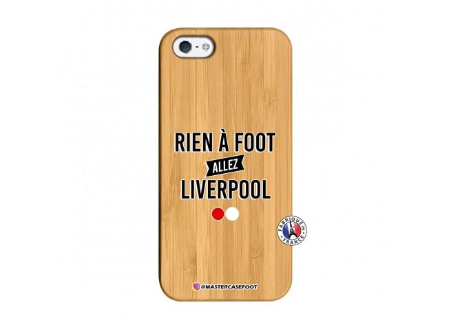 Coque iPhone 5/5S/SE Rien A Foot Allez Liverpool Bois Bamboo