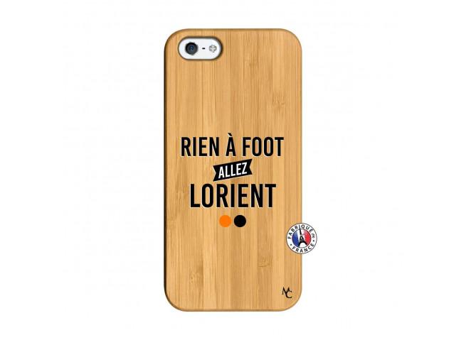 Coque iPhone 5/5S/SE Rien A Foot Allez Lorient Bois Bamboo