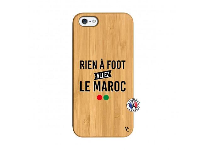 Coque iPhone 5/5S/SE Rien A Foot Allez Le Maroc Bois Bamboo