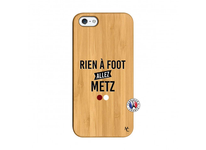 Coque iPhone 5/5S/SE Rien A Foot Allez Metz Bois Bamboo