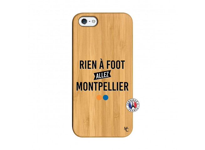 Coque iPhone 5/5S/SE Rien A Foot Allez Montpellier Bois Bamboo