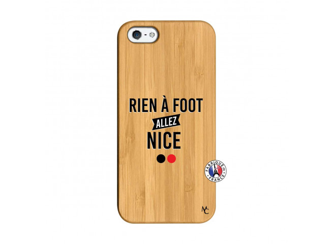 Coque iPhone 5/5S/SE Rien A Foot Allez Nice Bois Bamboo