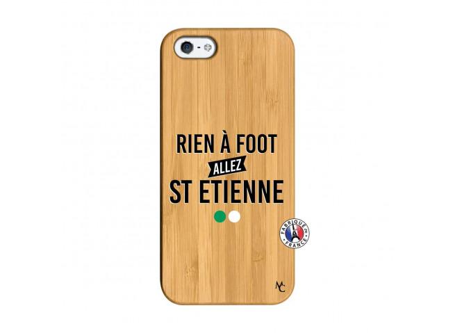 Coque iPhone 5/5S/SE Rien A Foot Allez St Etienne Bois Bamboo