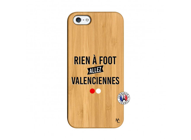 Coque iPhone 5/5S/SE Rien A Foot Allez Valenciennes Bois Bamboo