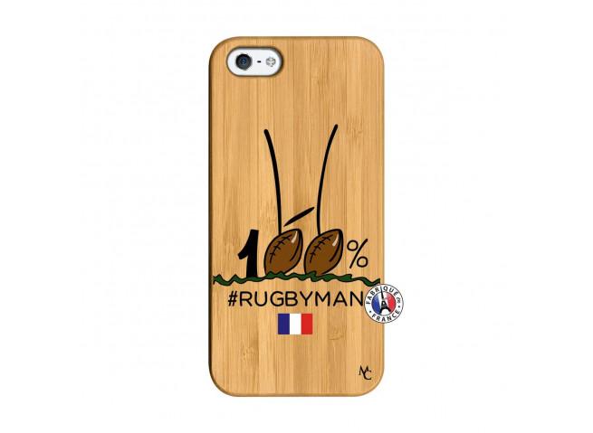 Coque iPhone 5/5S/SE 100 % Rugbyman Entre les Poteaux Bois Bamboo