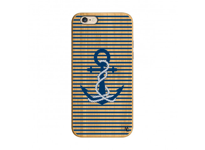 Coque iPhone 6/6S Ancre Bois Bamboo