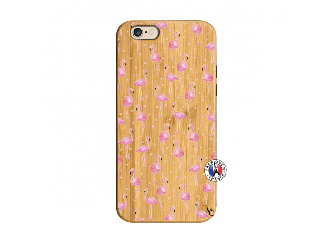 Coque Bois iPhone 6/6S Flamingo