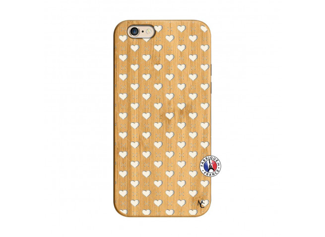 Coque iPhone 6/6S Little Hearts Bois Bamboo