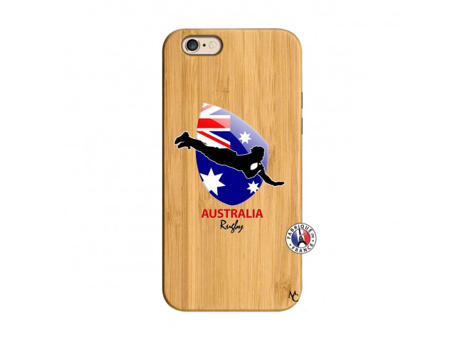 Coque iPhone 6/6S Coupe du Monde Rugby-Australia Bois Bamboo