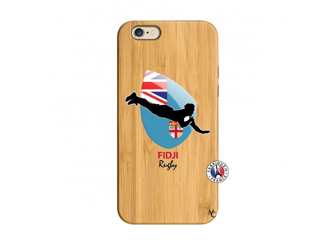 Coque iPhone 6/6S Coupe du Monde Rugby Fidji Bois Bamboo
