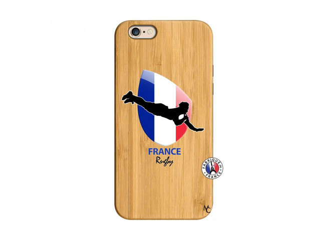 Coque iPhone 6/6S Coupe du Monde de Rugby-France Bois Bamboo