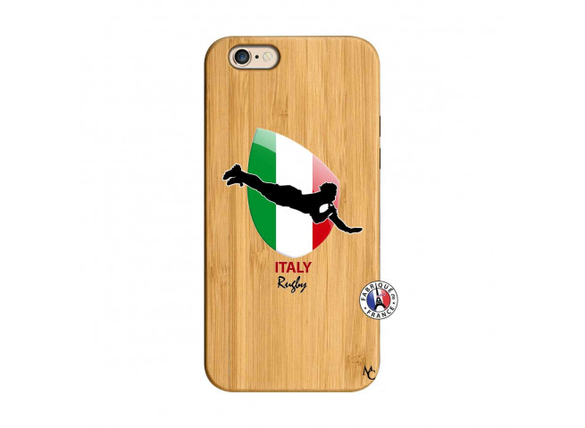 Coque iPhone 6/6S Coupe du Monde Rugby-Italy Bois Bamboo