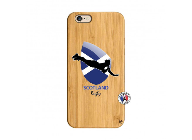 Coque iPhone 6/6S Coupe du Monde Rugby-Scotland Bois Bamboo