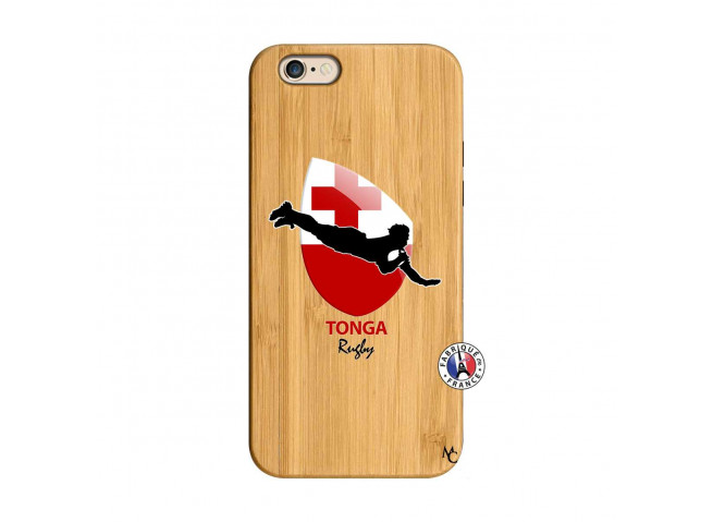 Coque iPhone 6/6S Coupe du Monde Rugby-Tonga Bois Bamboo