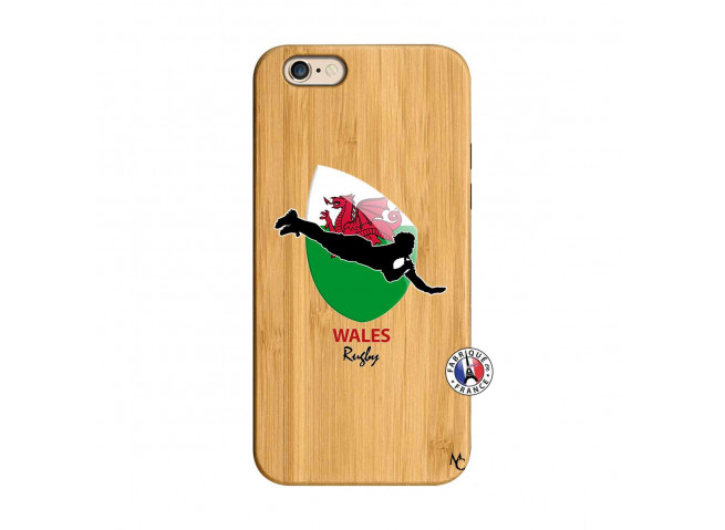 Coque iPhone 6/6S Coupe du Monde Rugby-Walles Bois Bamboo