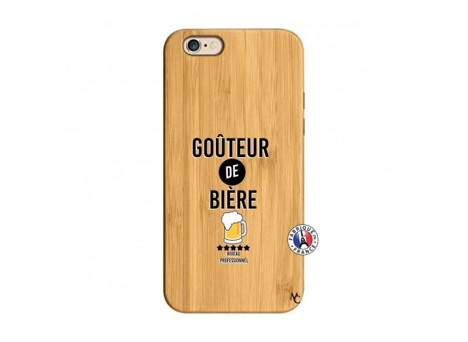 Coque iPhone 6/6S Gouteur De Biere Bois Bamboo