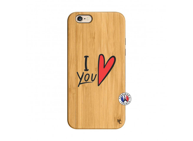 Coque iPhone 6/6S I Love You Bois Bamboo