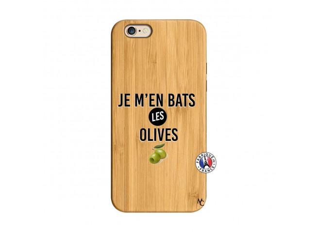Coque iPhone 6/6S Je M En Bas Les Olives Bois Bamboo