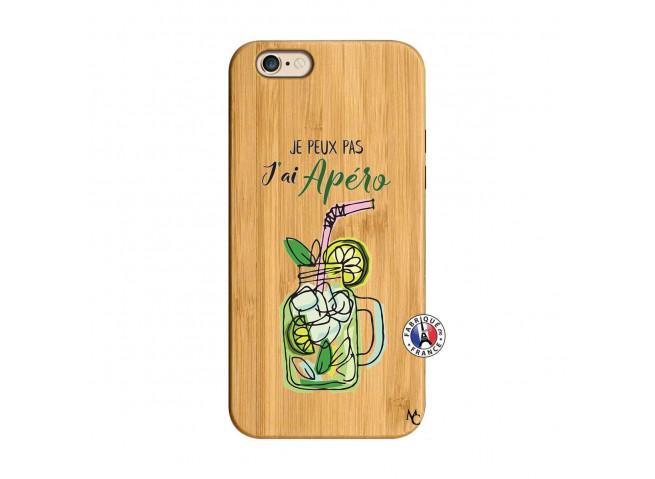 Coque iPhone 6/6S Je peux pas J'ai Apéro Bois Bamboo
