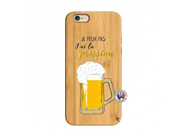 Coque iPhone 6/6S Je peux pas J'ai la Pression Bois Bamboo