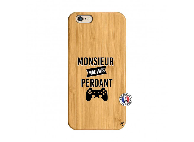 Coque iPhone 6/6S Monsieur Mauvais Perdant Bois Bamboo