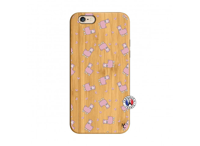 Coque iPhone 6/6S Petits Moutons Bois Bamboo