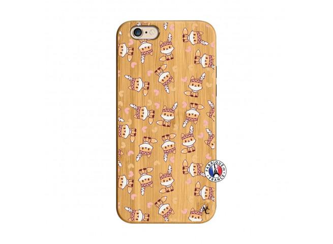 Coque iPhone 6/6S Petits Renards Bois Bamboo