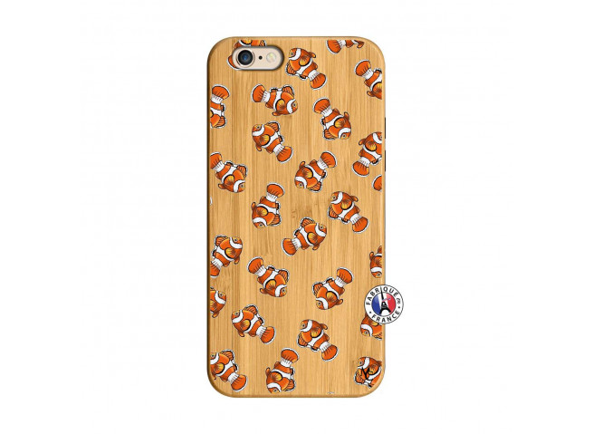 Coque iPhone 6/6S Petits Poissons Clown Bois Bamboo