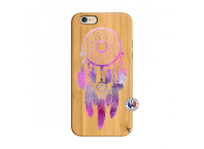Coque iPhone 6/6S Purple Dreamcatcher Bois Bamboo