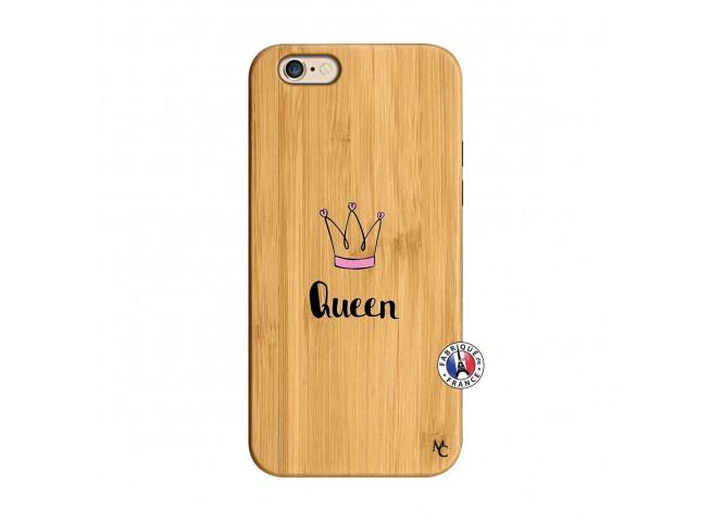 Coque iPhone 6/6S Queen Bois Bamboo