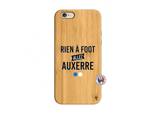 Coque iPhone 6/6S Rien A Foot Allez Auxerre Bois Bamboo