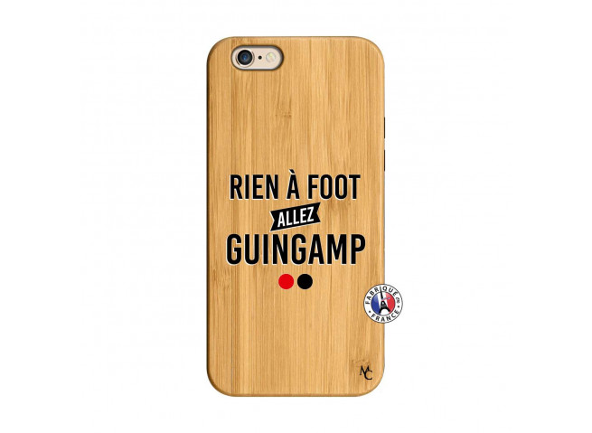 Coque iPhone 6/6S Rien A Foot Allez Guingamp Bois Bamboo